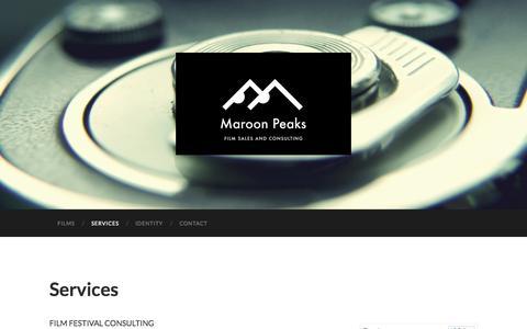Screenshot of Services Page maroonpeaks.com - Services | Maroon Peaks - captured Oct. 27, 2014