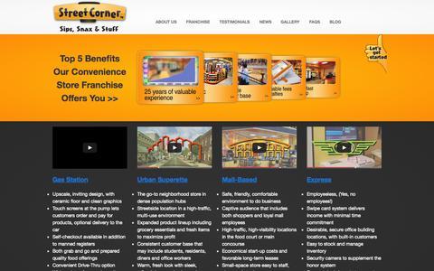 Screenshot of Home Page streetcorner.com - Street Corner Franchise ™ - captured Aug. 15, 2015