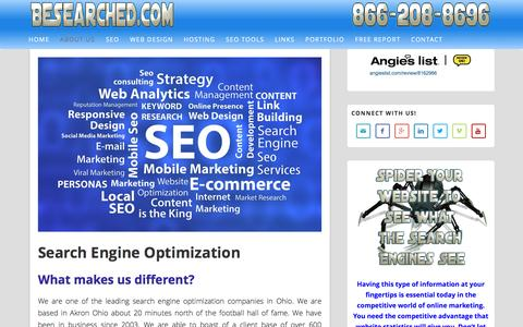 Screenshot of About Page besearched.com - Search Engine Optimization Specialists affordable search engine optimization effective search engine optimization search engine optimization - captured Feb. 8, 2016