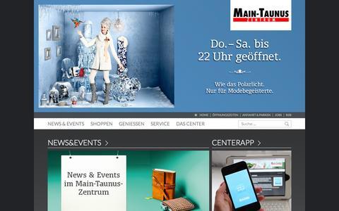 Screenshot of Home Page main-taunus-zentrum.de - Main-Taunus-Zentrum - Main-Taunus Zentrum, Sulzbach - captured Jan. 27, 2015