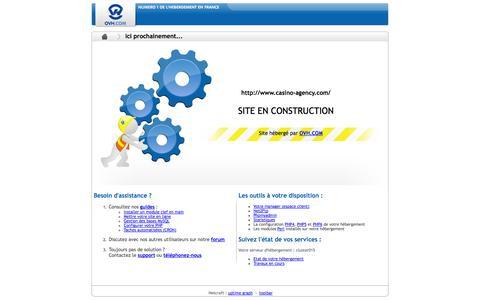 Screenshot of Home Page casino-agency.com - En construction - captured Oct. 7, 2014