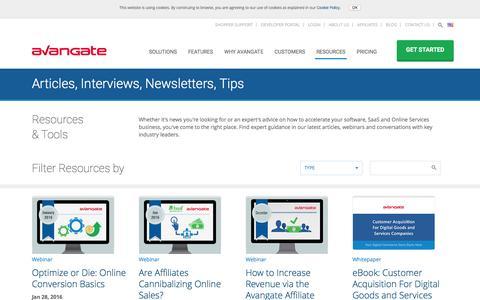 Screenshot of avangate.com - Software News   Commerce Resources   eCommerce Trends - captured March 19, 2016