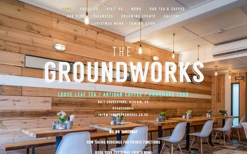 Screenshot of Home Page thegroundworks.co.uk - THE GROUNDWORKS - captured Sept. 30, 2014