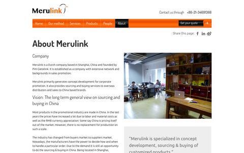 Screenshot of About Page merulink.com - Merulink - captured Oct. 27, 2014