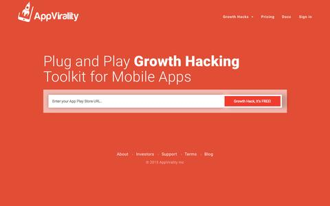 AppVirality | Plug and Play Growth Hacking Toolkit for Mobile Apps | In-App Referrals