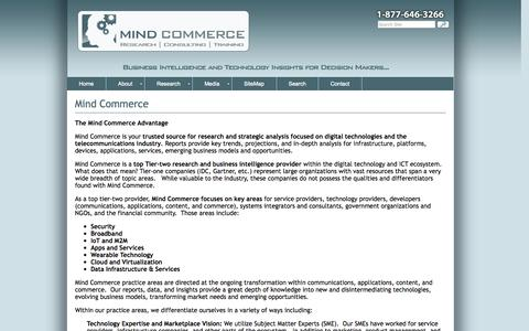 Screenshot of About Page mindcommerce.com - Mind Commerce - Research and Reports - captured Nov. 5, 2014