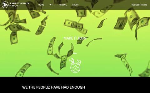 Screenshot of Pricing Page throwingfruit.com - Throwing Fruit - captured Aug. 17, 2016