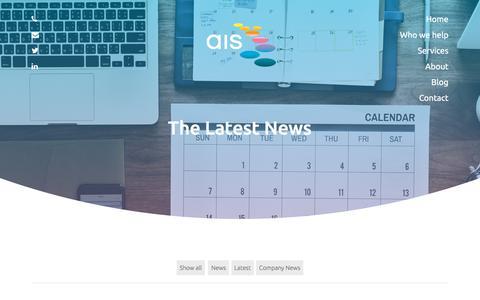 Screenshot of Press Page ais-cfo-solutions.com - Blog | AIS Consulting - captured July 31, 2018