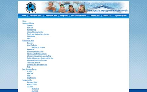 Screenshot of Site Map Page hastingswaterworks.com - Hastings Water Works - Site Map - captured Sept. 29, 2014