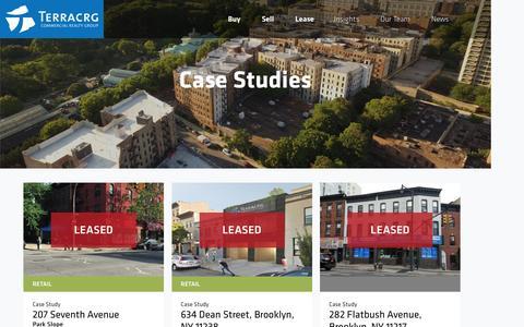 Screenshot of Case Studies Page terracrg.com - Case Studies Archive – TerraCRG - captured Dec. 15, 2016