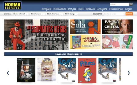 Screenshot of Home Page normaeditorial.com - Norma Editorial. Los mejores cómics y libros ilustrados desde 1977 - captured Dec. 10, 2018