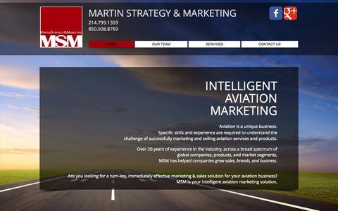 Screenshot of Home Page martinstrategyandmarketing.com - Martin Strategy and Marketing - captured Oct. 6, 2014