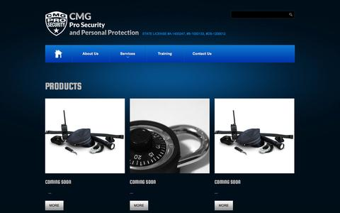 Screenshot of Products Page cmgprosecurity.com - Products  |  CMG Pro Security, Inc. - captured Dec. 5, 2015