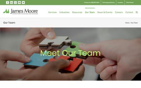 Screenshot of Team Page jmco.com - Meet Our Team   James Moore & Co. - captured Oct. 13, 2018
