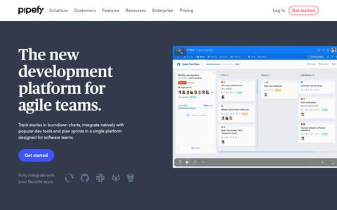 Screenshot of Developers Page pipefy.com - Software Development | Pipefy - captured June 15, 2019