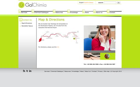 Screenshot of Maps & Directions Page galchimia.com - Maps & Directions | Galchimia - captured Oct. 1, 2014