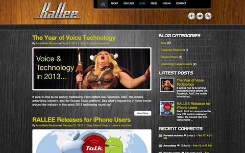 Screenshot of Blog rall.ee - Blog   RalleeRallee - captured Sept. 17, 2014