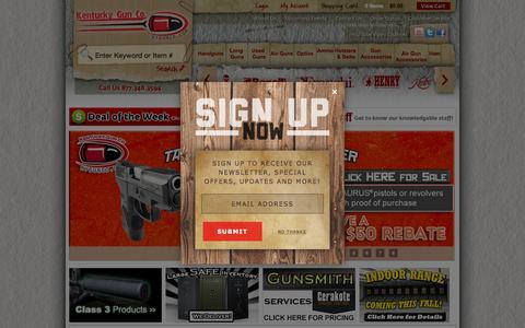 Screenshot of Home Page kygunco.com - Guns For Sale Online - Kentucky Gun Co. - captured Sept. 12, 2015