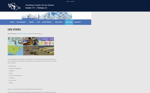 Screenshot of Case Studies Page informs.org - Case Studies - captured April 16, 2016
