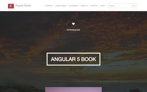 Screenshot of Home Page angularbooks.com - Angular 5 Book - Learning AngularJS | Angular Books - captured July 9, 2018