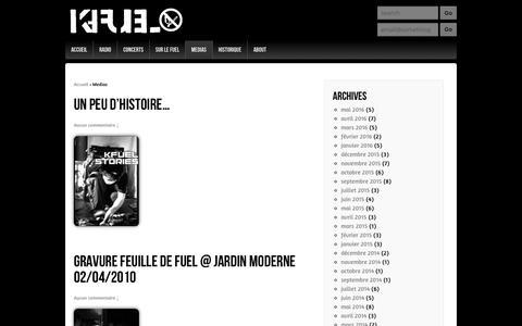 Screenshot of Press Page kfuel.org - Kfuel | Medias - captured June 3, 2016