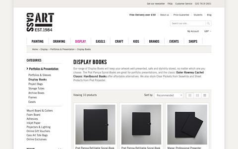 Screenshot of cassart.co.uk - Display Books   Cass Art   UK's Finest Art Supplies   Cass Art - captured March 19, 2016