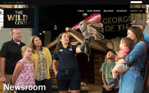 Screenshot of Press Page wildcenter.org - Newsroom | Wild Center - captured May 30, 2019