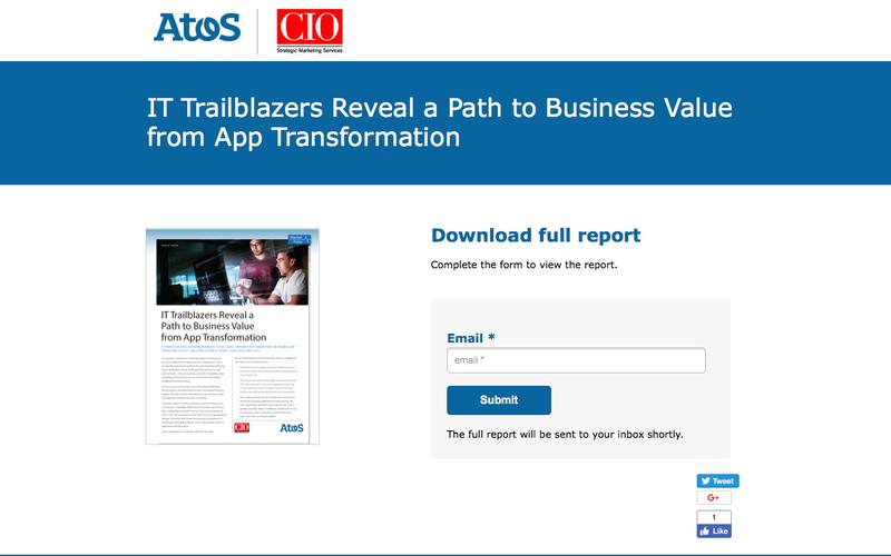 Atos + CIO Magazine: Become an IT Trailblazer
