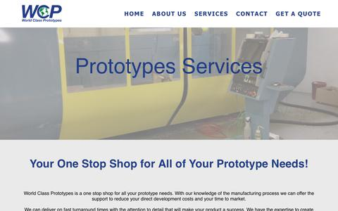 Screenshot of Services Page worldclassprototypes.com - Prototype Services | World Class Prototypes | Services | Holland Michigan - captured Sept. 21, 2018