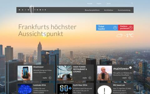 Screenshot of Home Page maintower.de - Startseite - MAIN TOWER - MAIN TOWER - captured March 3, 2016