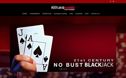 Screenshot of Home Page hustlercasinola.com - Hustler Casino | Play Harder - captured Oct. 3, 2014