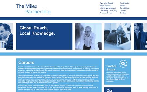 Screenshot of Jobs Page miles-partnership.com - Careers - The Miles Partnership - captured Feb. 25, 2016