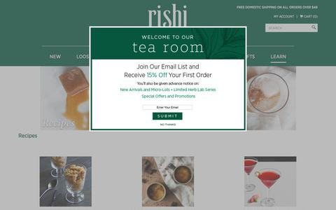 Tea Infused Recipes | Rishi-Tea.com