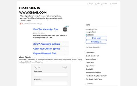 Screenshot of Home Page gmail10.com - GMAIL SIGN IN WWW.GMAIL.COM - captured Sept. 22, 2016