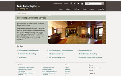 Screenshot of Services Page lblco.com - Accounting Services Minneapolis MN | Tax Accountant Minnesota | LBLCO - captured Oct. 3, 2014