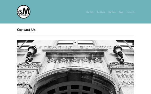 Screenshot of Contact Page tsmdesign.com - TSM Design  » Contact Us - captured Sept. 30, 2014