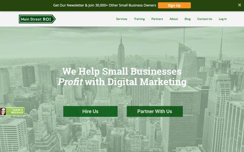 Screenshot of Home Page mainstreetroi.com - Small Business Digital Marketing Agency in NYC  | Main Street ROI - captured July 27, 2018