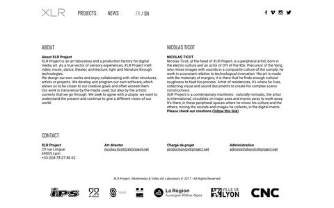 Screenshot of Press Page xlrproject.net - News Archives - XLR Project - captured July 27, 2018