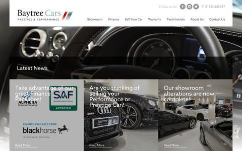 Screenshot of Press Page baytreecars.com - Latest News - Baytree Cars - captured June 1, 2017