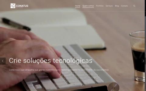 Screenshot of Home Page conatussw.com - Conatus Software - captured Nov. 3, 2018