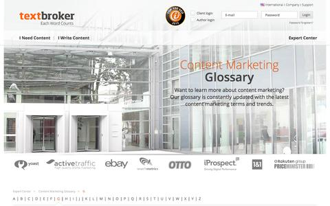 Glossar | Textbroker