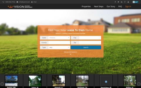 Screenshot of Home Page vpm3.com - Vision Property Management - captured Feb. 5, 2016