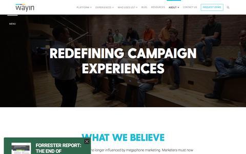About | Campaign Marketing Experience Platform - Wayin