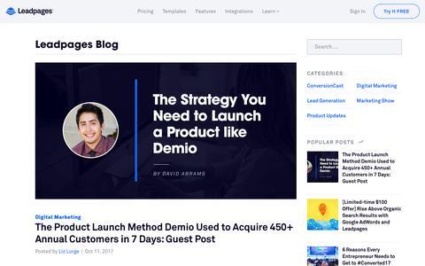 Blog - Leadpages Landing Page Builder & Lead Gen Software