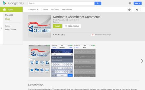 Screenshot of Android App Page google.com - Northants Chamber of Commerce - Android Apps on Google Play - captured Nov. 5, 2014