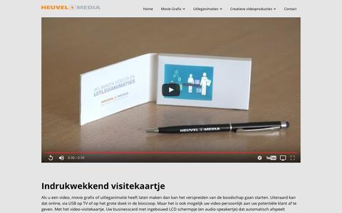 Screenshot of Blog heuvelmedia.nl - Maak indruk met uw videovisitekaartjes - captured Aug. 9, 2017
