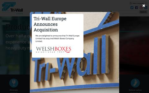 Screenshot of Home Page tri-wall.eu - Home | Tri-Wall Europe - Specialising in Corrugated Packaging - captured Nov. 9, 2017