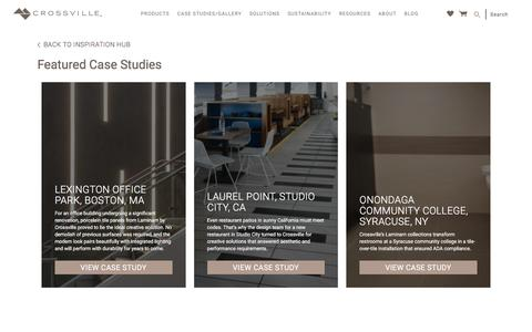 Screenshot of Case Studies Page crossvilleinc.com - Inspiration Case Studies - Tile Case Studies - Crossville Inc Tile - captured May 23, 2017