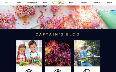 Screenshot of Blog captain-fantastic.co.uk - Children's Entertainment Blog by the UK's No1 Children's Entertainer - captured Nov. 9, 2018
