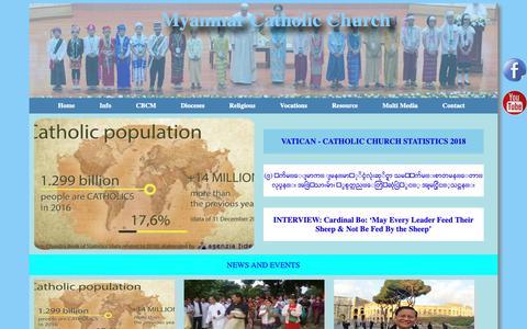 Screenshot of Home Page catholicmyanmar.com - Catholic Bishop Conference Myanmar - captured Oct. 30, 2018